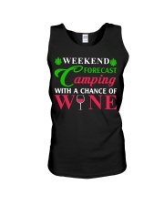 Weekend Forecast Camping With A Chance Of Wine Unisex Tank thumbnail