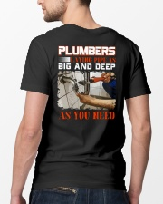 Plumber LAying Pipe As Big And Deep As You Need Classic T-Shirt lifestyle-mens-crewneck-back-5