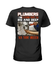 Plumber LAying Pipe As Big And Deep As You Need Ladies T-Shirt thumbnail