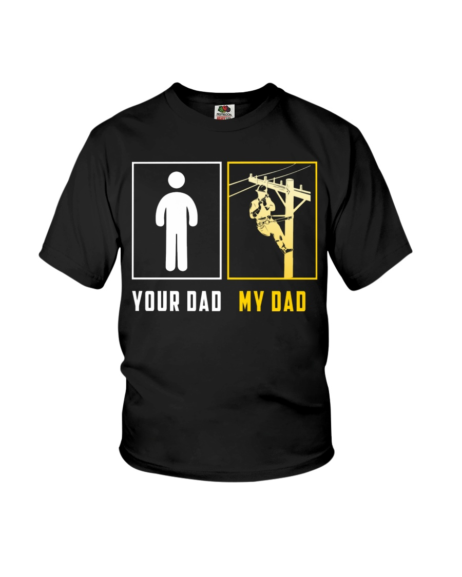Your Dad - My Dad Lineman Youth T-Shirt