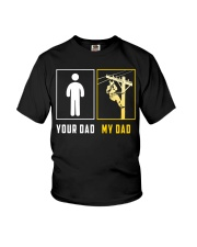 Your Dad - My Dad Lineman Youth T-Shirt front