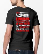 Once A Lineman Always A Lineman Classic T-Shirt lifestyle-mens-crewneck-back-5