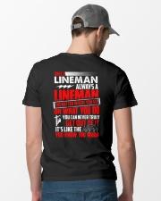 Once A Lineman Always A Lineman Classic T-Shirt lifestyle-mens-crewneck-back-6