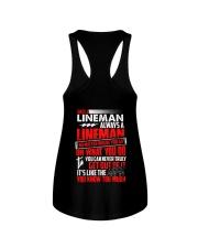 Once A Lineman Always A Lineman Ladies Flowy Tank thumbnail