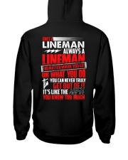 Once A Lineman Always A Lineman Hooded Sweatshirt thumbnail