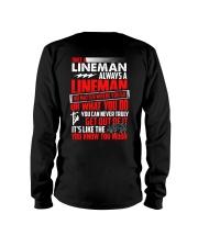 Once A Lineman Always A Lineman Long Sleeve Tee thumbnail
