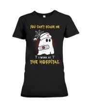 I Work At The Hospital Nurse Premium Fit Ladies Tee thumbnail