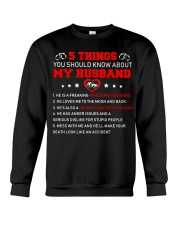 5 thing You Should Know About My Husband Concrete Crewneck Sweatshirt thumbnail