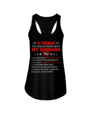 5 thing You Should Know About My Husband Concrete Ladies Flowy Tank thumbnail