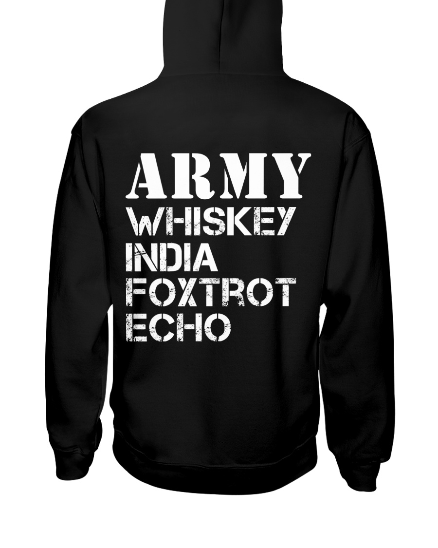 Veteran Army Whiskey India Foxtrot Echo Hooded Sweatshirt