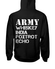 Veteran Army Whiskey India Foxtrot Echo Hooded Sweatshirt back
