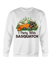 I Party With Sasquatch Crewneck Sweatshirt thumbnail