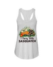 I Party With Sasquatch Ladies Flowy Tank thumbnail