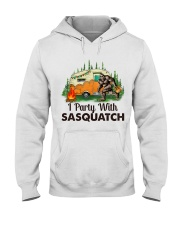 I Party With Sasquatch Hooded Sweatshirt thumbnail