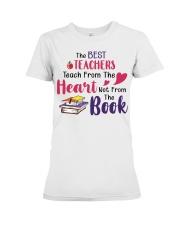 The Best Teachers Teach From The Heart Premium Fit Ladies Tee thumbnail