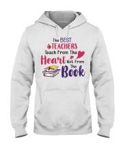 The Best Teachers Teach From The Heart Hooded Sweatshirt thumbnail
