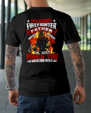 I'm a grumpy firefighter father Too old to fight Classic T-Shirt lifestyle-mens-crewneck-back-3