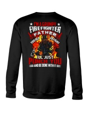 I'm a grumpy firefighter father Too old to fight Crewneck Sweatshirt thumbnail