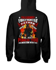 I'm a grumpy firefighter father Too old to fight Hooded Sweatshirt thumbnail