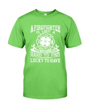 Firefighter Is Like A Four Leaf Clover Classic T-Shirt thumbnail