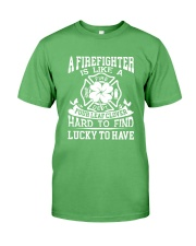 Firefighter Is Like A Four Leaf Clover Premium Fit Mens Tee thumbnail