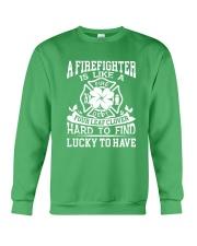 Firefighter Is Like A Four Leaf Clover Crewneck Sweatshirt thumbnail