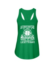 Firefighter Is Like A Four Leaf Clover Ladies Flowy Tank thumbnail