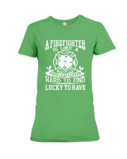 Firefighter Is Like A Four Leaf Clover Premium Fit Ladies Tee thumbnail