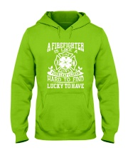 Firefighter Is Like A Four Leaf Clover Hooded Sweatshirt thumbnail