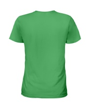 Firefighter Is Like A Four Leaf Clover Ladies T-Shirt back