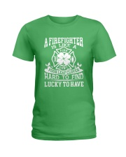 Firefighter Is Like A Four Leaf Clover Ladies T-Shirt front