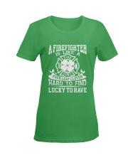Firefighter Is Like A Four Leaf Clover Ladies T-Shirt women-premium-crewneck-shirt-front