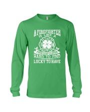 Firefighter Is Like A Four Leaf Clover Long Sleeve Tee thumbnail