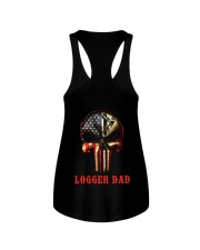 Logger Dad Skull Ladies Flowy Tank thumbnail