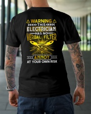Warning This Electrician Has No Verbal Filter Classic T-Shirt lifestyle-mens-crewneck-back-3