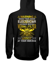 Warning This Electrician Has No Verbal Filter Hooded Sweatshirt thumbnail