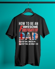 How to Be An Awesome Firefighter Dad Classic T-Shirt lifestyle-mens-crewneck-front-3