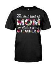 The Best King Of Mom Raises A Teacher Premium Fit Mens Tee thumbnail