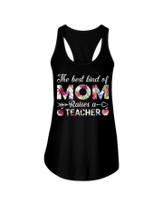 The Best King Of Mom Raises A Teacher Ladies Flowy Tank thumbnail
