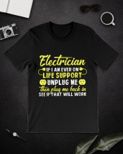 Electrician Unplug Me Classic T-Shirt lifestyle-mens-crewneck-front-16