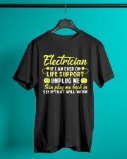 Electrician Unplug Me Classic T-Shirt lifestyle-mens-crewneck-front-3
