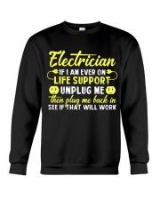 Electrician Unplug Me Crewneck Sweatshirt thumbnail