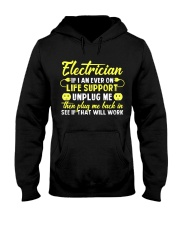 Electrician Unplug Me Hooded Sweatshirt thumbnail
