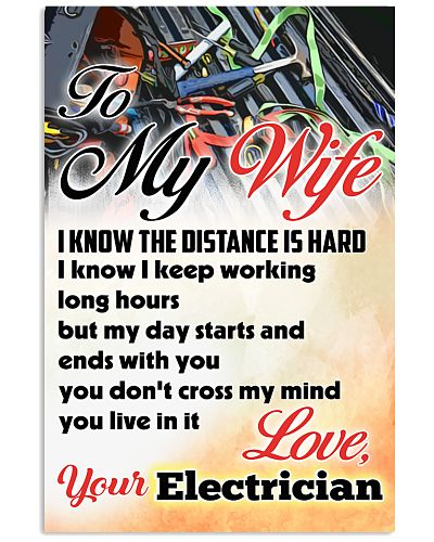 Electrician To My Wife Poster