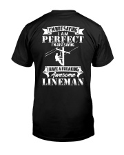 Freaking Awesome Lineman Classic T-Shirt back