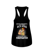 Move Over Boys Let This Old Man Firefighter Ladies Flowy Tank thumbnail