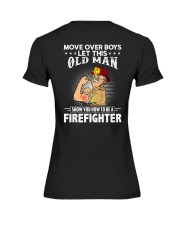 Move Over Boys Let This Old Man Firefighter Premium Fit Ladies Tee thumbnail