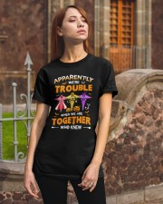 We're Trouble Together Nurse Classic T-Shirt apparel-classic-tshirt-lifestyle-06