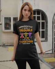 We're Trouble Together Nurse Classic T-Shirt apparel-classic-tshirt-lifestyle-19