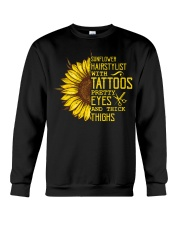 Sunflower Hairstylist With Tattoos Pretty Eyes And Crewneck Sweatshirt thumbnail
